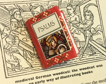"miniature handbound book 1 1/2 ' high ""psalms"""