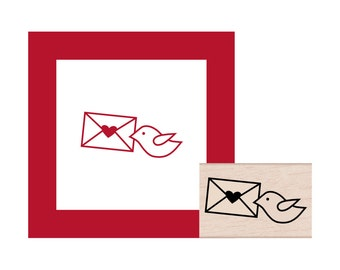 NEW for 2016 Air Mail Bird Rubber Stamp