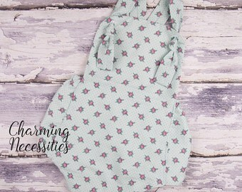 Baby Girl Clothes, Toddler Girl Clothes, Sunsuit Bubble Romper Spring Summer Cottage Chic Mint by Charming Necessities Baby Shower Gift