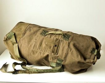 US Army Duffel Bag, 1950s Military Duffel Bag, Field Bag, Army Ruck Sack