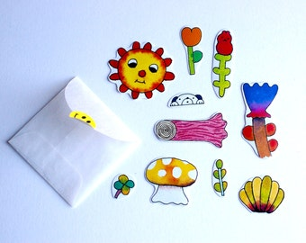 Little Garden Pack (10 small stickers)