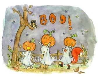 Halloween Art -- Boo! -- Art Print