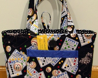 NWT Totally Toteable Totes Bingo Bag Tote free shipping