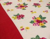 Vintage Seersucker Floral Tablecloth