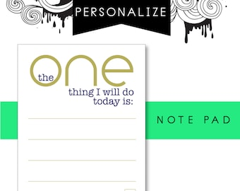 Note pad, One Thing Note Pad