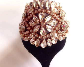 Glamorous Rose Gold Rhinestone And Pearl Shoe Clips For The Back Of Your Shoe Wedding Bridal Prom