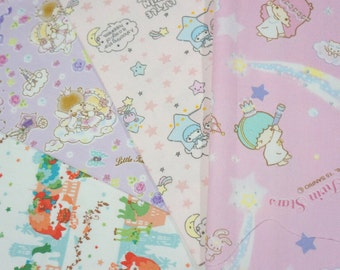 Sanrio fabric scrap Hello Kitty and my Melody (ns03)