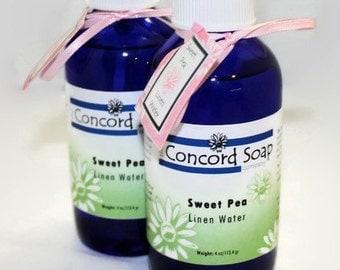 Sweet Pea Handmade Room and Linen Water Spray - scented, body spray, potpourri, floral, feminine, fragrance, cobalt blue glass, teen, tween