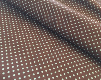 1 yard - Brown and Blue Small Dot