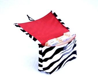 Coupon and Purse Organizer Holder Zebra Fabric