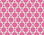 "Floral Pink -- Summer Song 2 -- 41"" Laminated Cotton Fabric -- Now Sold in Continuous 1 Yard Lengths -- Oilcloth Addict"
