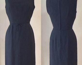 Vintage 50's Black Wiggle Dress.