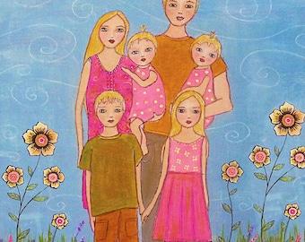 Custom Family Portrait, Family Painting, Custom Painting, Made to Order Painting, Customized Art