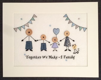 Stick People Family Portrait - Together We Make A Family