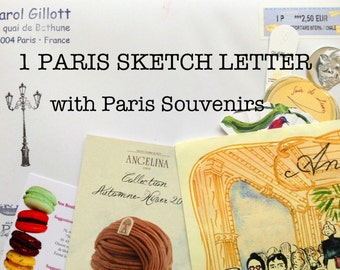 1 PARIS SKETCH LETTER of your choice