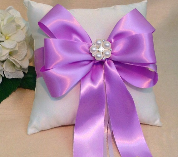 orchid ring bearer pillow ivory ring pillow white ring
