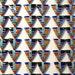 Mosaic Cabochon Triangle 10mm Sugilite Turquoise Coral Onyx Lapis Malachite Silver,  QTY4, Native American Southwest