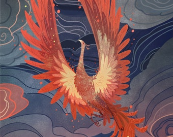 Phoenix of the Night 8x12 art print