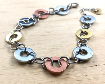 mixed metal chain bracelet Hardware Jewelry