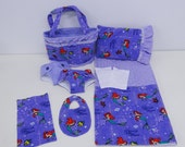 Bitty Baby Basics in Little Mermaid - Diaper Bag and Diapers with Blanket and Pillow