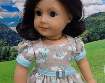 Flying High - vintage style dress for American Girl doll