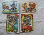 Football Super Freak Card Stickers Vintage Four 4 Donruss