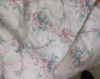 J.C. Penny's Floral Sheets, Full Size Flowers and Ribbons