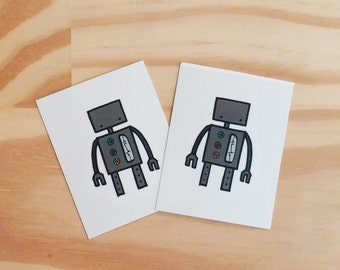 Temporary Tattoos, Robot - Pack of 2