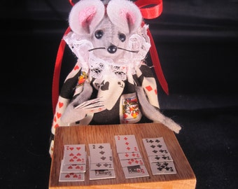 Mouse Playing Bridge