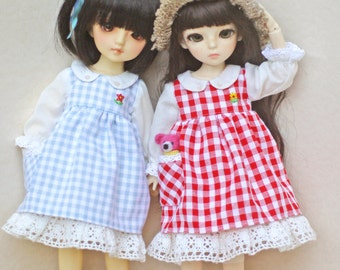 Patterns and English Instructions of Gingham dress for YoSD Doll