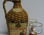 Wicker Covered Bottle of 1947 Toureador Wine from Lisbon