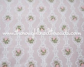 Sweetest Pink Rosebuds - Vintage Fabric New Old Stock 60s Shabby Chic