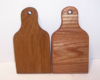 Cheese Board Cutting Board 2 Pak Handcrafted from Oak Hardwood