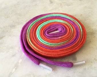 Hand Dyed Shoe Laces (45 inch length) Salsa