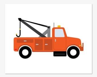 Tow Truck Print