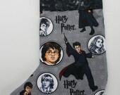 Harry Potter Hand Made Christmas Stocking, READY TO SHIP, Men, Boys, Lined, Cotton, Gift Holder, Xmas, X-Mas Stocking