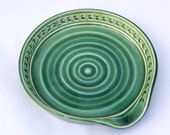Spoon Rest in Forest Green - Ceramic Stoneware Pottery