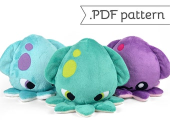 Kraken Squid Plush .pdf Sewing Pattern