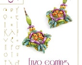 Beading tutorial / pattern Enzo earring. Beading instruction in PDF – for personal use only