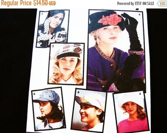 SALE 25% Off Womens Hats & Gloves Pattern Simplicity UNCUT Cap Hat, Brim Hat,  Elbow Length Gloves Sewing Pattern