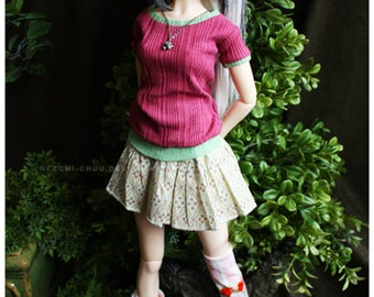 Summer Sale! ABJD Dollfie SD Delf CP Musedoll cute two toned tee