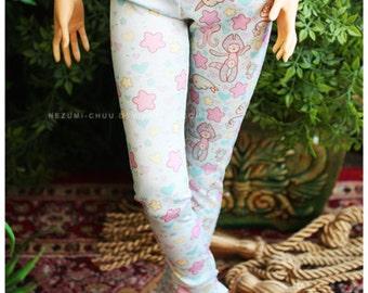 ABJD CP SD Delf pastel fairy kei half and half leggings