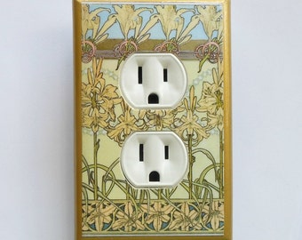 William Morris wall plates & outlet covers w/ MATCHING SCREWS- Art Nouveau switch cover Art Nouveau wall decor Art Deco William Morris decor