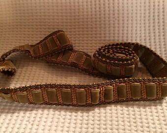 1930s French velvet embellishment braid 36inches