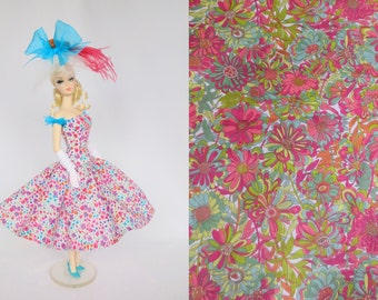 OOAK Silkstone Barbie Outfit Fashion Dress Hat - 'Willow Rose'