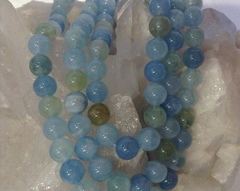 50% Mega Sale 8mm Multicolor Aquamarine Gemstone Beads