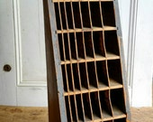 Vintage 1920s primitive letterpress display cabinet apothecary holiday ornament display case