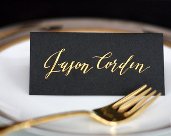 Custom Hand Lettered Calligraphy, Wedding Place Cards, Escort Cards