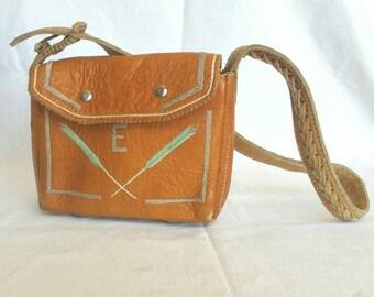 Monogram E Vintage Embroidered Feathers Handbag