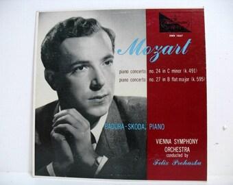 Vintage Mozart Badura Skoda Piano LP Vinyl Record Vienna Symphony Felix Prohaska Westminster XWN 18267 Classical